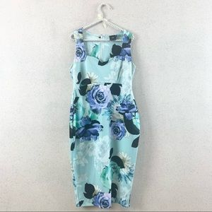 ASOS Sweetheart Floral Fit Dress Blue 8 Maternity